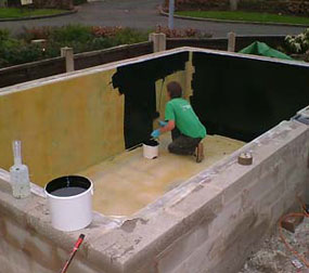 Grp lining services koi pond fibreglassing specialists for Foam in koi pond