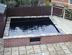 A Koi pond fibreglassed by GRP