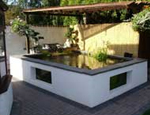 A modern Koi pond fibreglassed by GRP