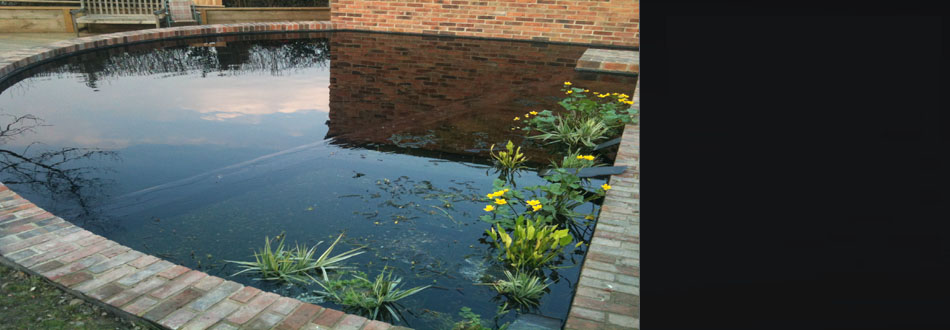 Koi pond fibreglassing in Derbyshire by GRP